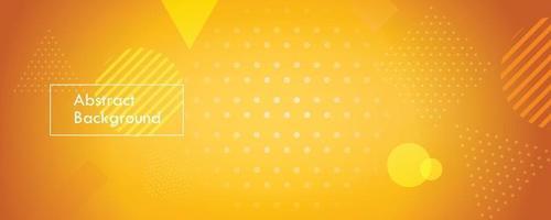 fundo de banner abstrato amarelo vetor