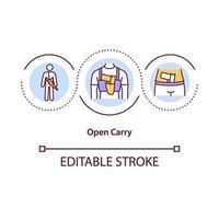 ícone de conceito de transporte aberto vetor
