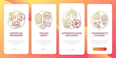 configuração para co-design da tela da página do aplicativo móvel com conceitos vetor