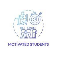 ícone do conceito de alunos motivados