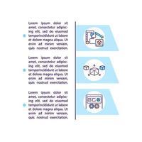ícone de conceito de tecnologias aditivas modernas com texto vetor