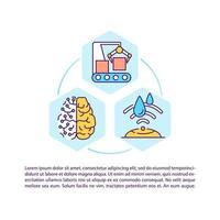 ícone do conceito de manufatura digital com texto vetor