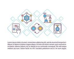 criação de ícone de conceito de sistema de produção com texto vetor