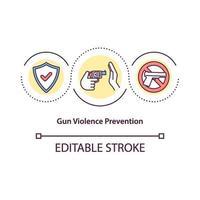 ícone do conceito de prevenção de violência armada vetor