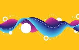 cor alegre do conceito de fundo de ondas e círculos vetor