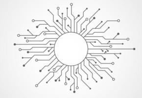 fundo abstrato com textura de placa de circuito de tecnologia. ilustração eletrônica da placa-mãe. conceito de comunicação e engenharia. ilustração vetorial vetor