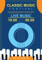 Poster clássico do concerto