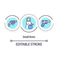 ícone do conceito de armas pequenas vetor