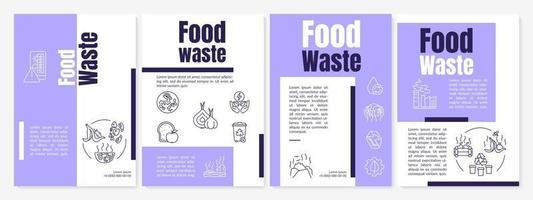 modelo de folheto de resíduos de alimentos