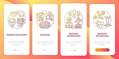 colaboradores de co-criação integrando a tela da página do aplicativo móvel com conceitos vetor