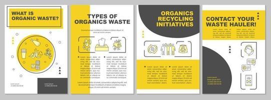 o que é modelo de folheto de resíduos orgânicos