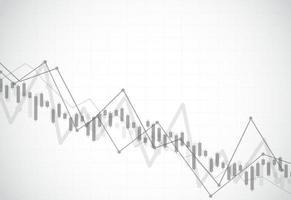 negócios vela vara gráfico gráfico de negociação de investimento no mercado de ações no projeto de plano de fundo. ponto de alta, tendência do gráfico. ilustração vetorial vetor