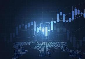 negócio vela vara gráfico gráfico de negociação de investimento no mercado de ações no design de fundo branco. ponto de alta, tendência do gráfico. ilustração vetorial vetor