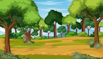 fundo da floresta ao ar livre da natureza vetor