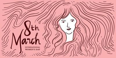 ilustração do dia internacional da mulher para banner, pôster e mídia social vetor