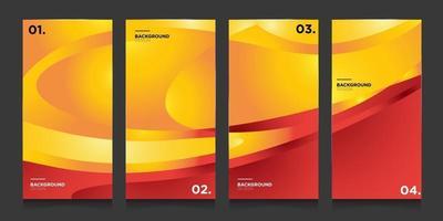 gradiente minimalista abstrato de vetor em vermelho, laranja, amarelo para modelo de plano de fundo de banner de mídia social