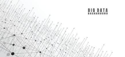 abstrato base de tecnologia com grande volume de dados. conexão com a Internet, sentido abstrato de ciência e tecnologia design gráfico conceito de análise ilustração vetorial vetor