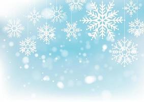 Natal e ano novo desfocam o bokeh de luz no fundo. ilustração vetorial vetor