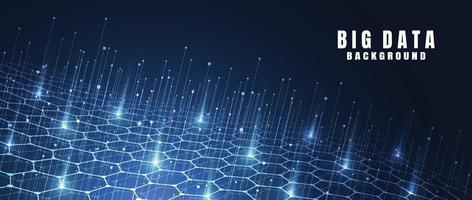 abstrato base de tecnologia com grande volume de dados. conexão com a Internet, sentido abstrato de ciência e tecnologia de design gráfico do conceito de análise. ilustração vetorial vetor