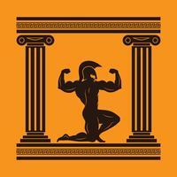 Ilustração de personagem de mitologia de Hércules vetor
