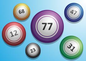 Vetor de bolas de loteria