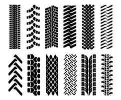 Marcas de pneus no vetor de estrada