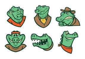 Vetor de logotipo de crocodilo grátis