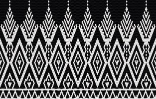 bordado de padrão étnico geométrico e design tradicional. textura tribal étnica do vetor. design para tapete, papel de parede, roupas, embrulho, batik, tecido em estilo de bordado em temas étnicos.