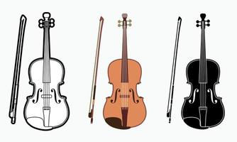 instrumento musical de orquestra de violino vetor
