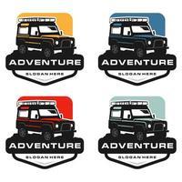 conjunto de logotipo de carro de aventura vetor