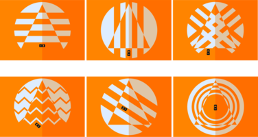 Cones Laranja vetor