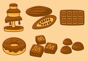 Vetores deliciosos de chocolate