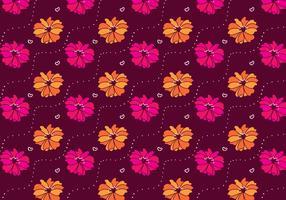 Vetor de padrão de flores de rododendro magenta