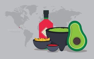 Moljacete Mexicano Tradicional Comida e Ferramentas de Moagem vetor