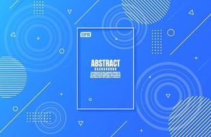 gradiente abstrato moderno de cores azuis com forma geométrica para design de plano de negócios vetor