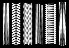Marcas De Pneu Branco Vector