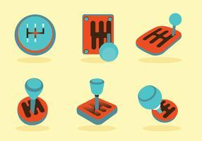 Conjunto de vetores de botões de marchas