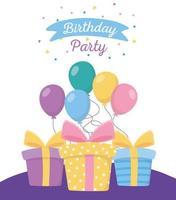 cartão de feliz aniversário vetor