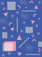 fundo geométrico e abstrato colorido vetor