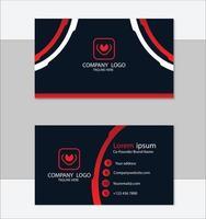 modelo de design geométrico de cartão de visita vermelho e preto vetor