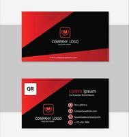 design de cartão de visita moderno abstrato vermelho vetor
