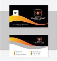 modelo de cartão de visita elegante amarelo e preto vetor