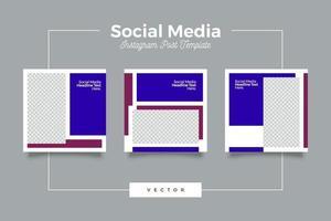 pacote de pós-banner de mídia social empresarial vetor