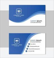 modelo de cartão de visita profissional limpo vetor