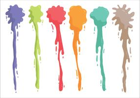 Gotejamento colorido da pintura de pulverizador vetor