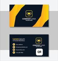 modelo de cartão de visita moderno amarelo elegante vetor