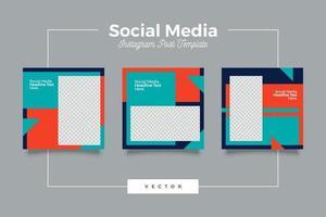 modelo minimalista de postagem de mídia social moderna vetor