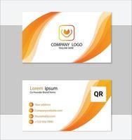 modelo de cartão de visita elegante branco e amarelo vetor