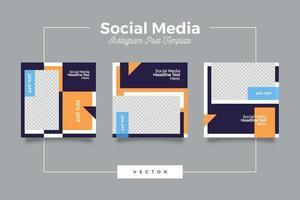 modelo de postagem de mídia social moderna vetor