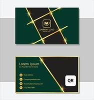 modelo de cartão de visita moderno de estilo limpo vetor